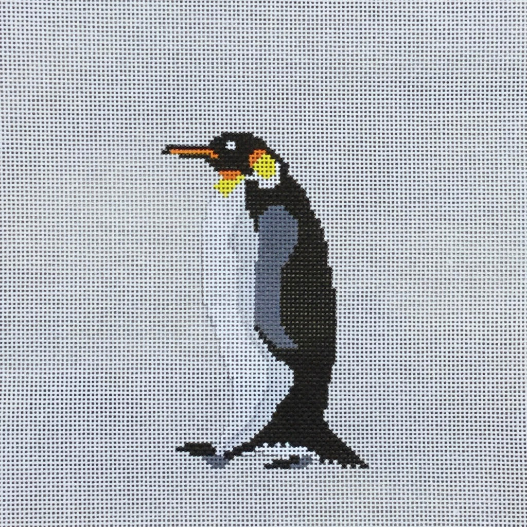 Emperor Penguin Canvas-Needlepoint Canvas-Pip and Roo Needleworks-KC Needlepoint