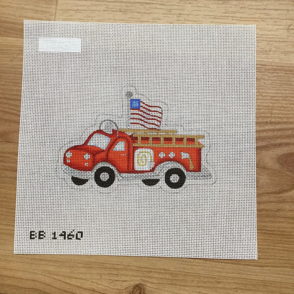 Red Fire Engine Canvas - needlepoint