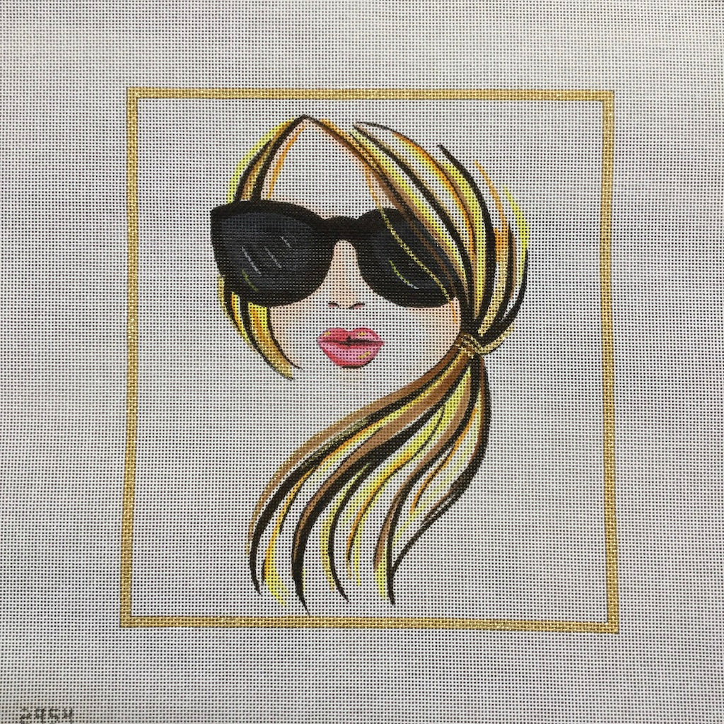 Blonde Silhouette Canvas