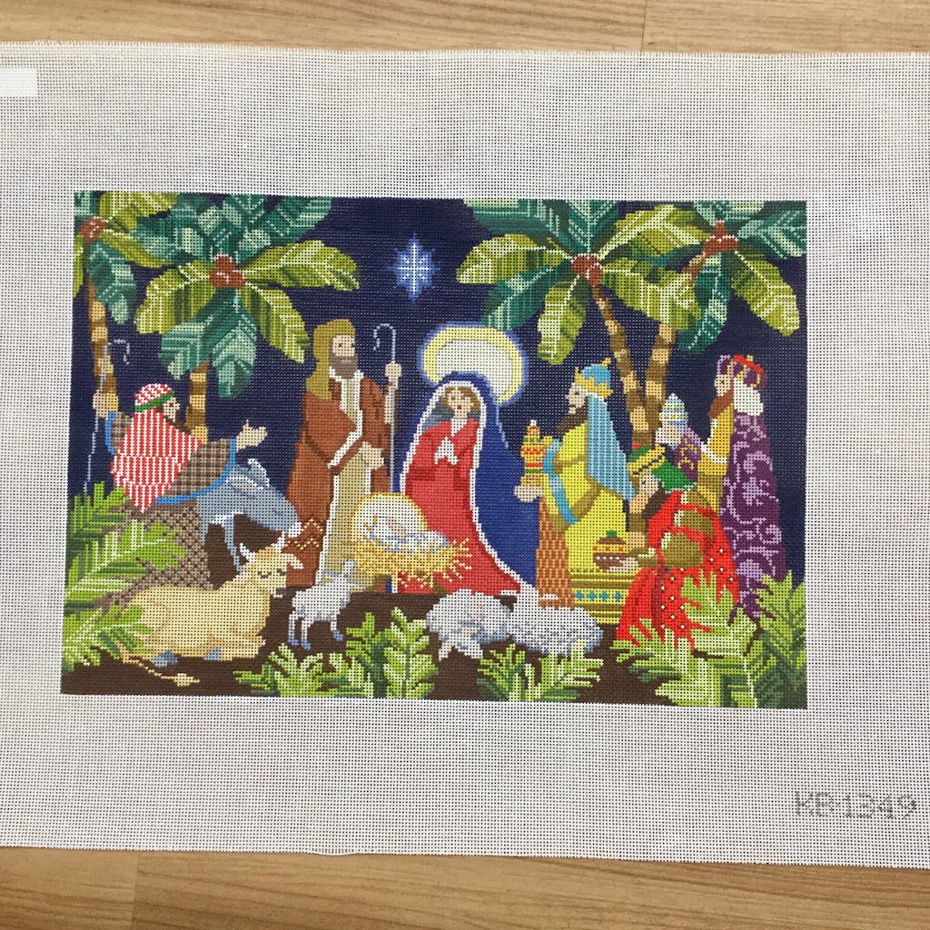 Nativity Needlepoint Canvas-Needlepoint Canvas-Kirk & Bradley-KC Needlepoint