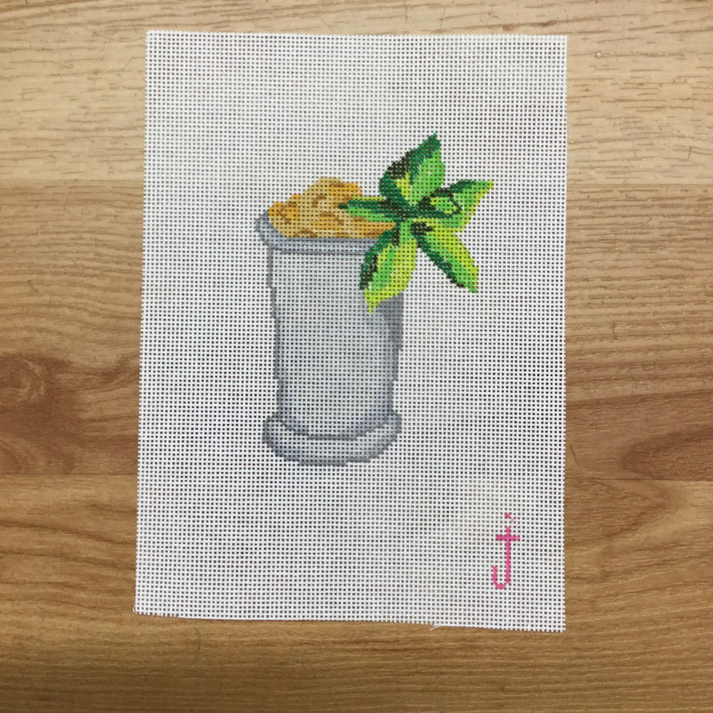 Mint Julep Canvas-Needlepoint Canvas-Jessica Tongel Designs-KC Needlepoint