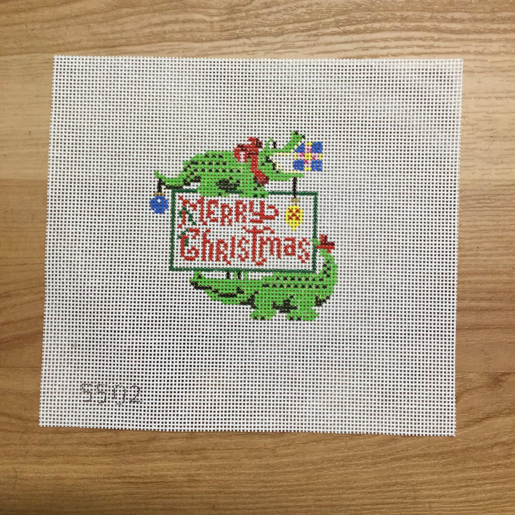 Merry Christmas Gators Canvas-Needlepoint Canvas-Jessica Tongel Designs-KC Needlepoint