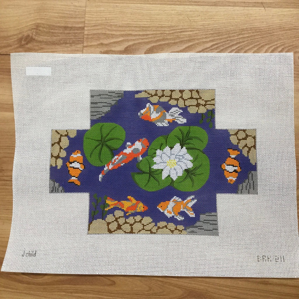 Koi Brick Canvas-Needlepoint Canvas-J. Child Designs-KC Needlepoint
