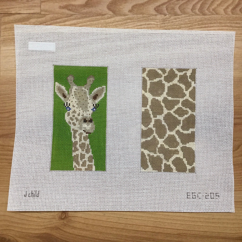 Giraffe Eyeglass Case Canvas-Needlepoint Canvas-J. Child Designs-KC Needlepoint