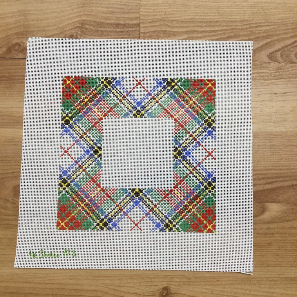Stewart Tartan Frame Canvas-Needlepoint Canvas-Studio Midwest-KC Needlepoint
