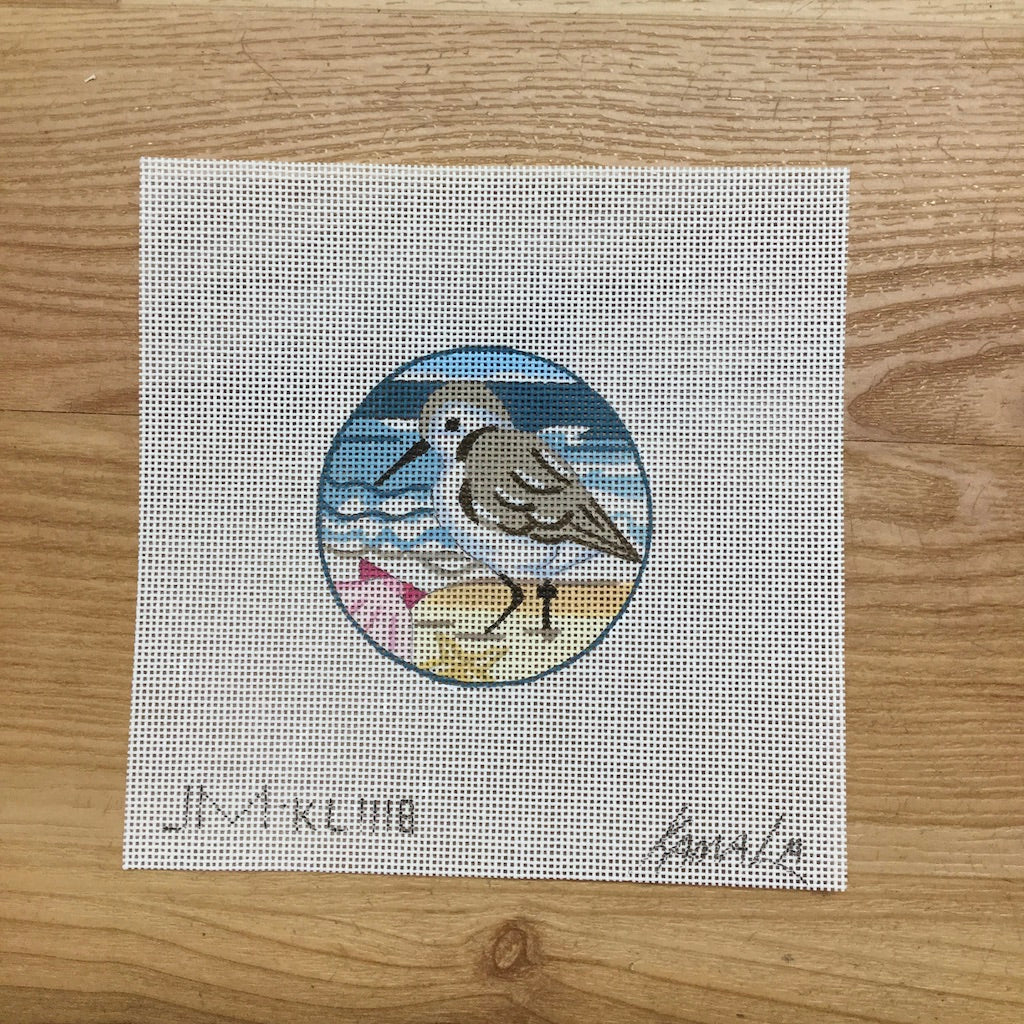 Sandpiper with Shell Canvas