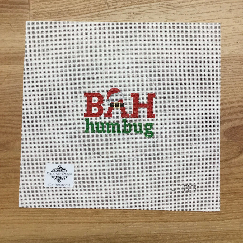 Bah Humbug Ornament Canvas - needlepoint