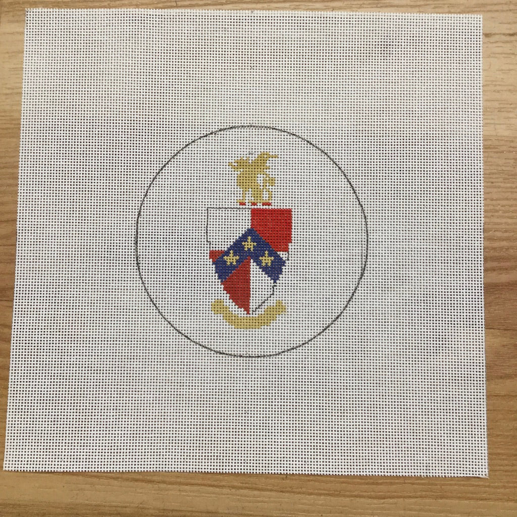 Beta Theta Pi Crest-Needlepoint Canvas-KCN Designers-KC Needlepoint