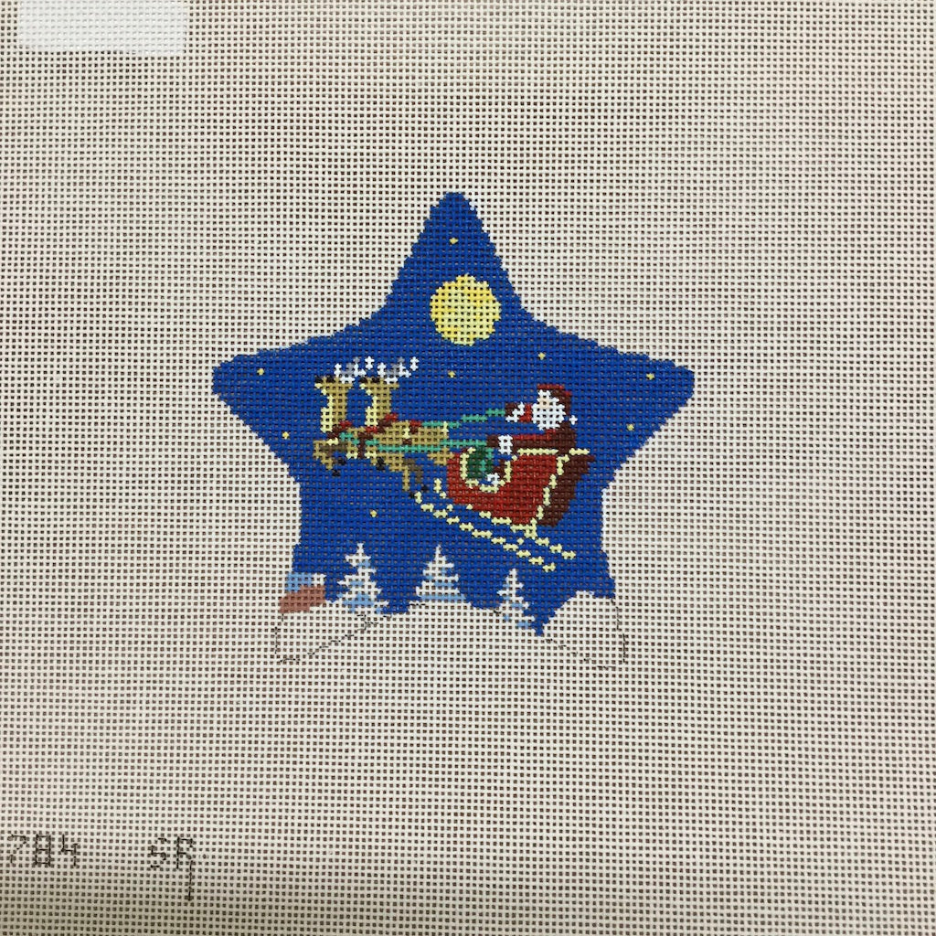 Moonlight Ride Star Canvas-Needlepoint Canvas-Susan Roberts-KC Needlepoint