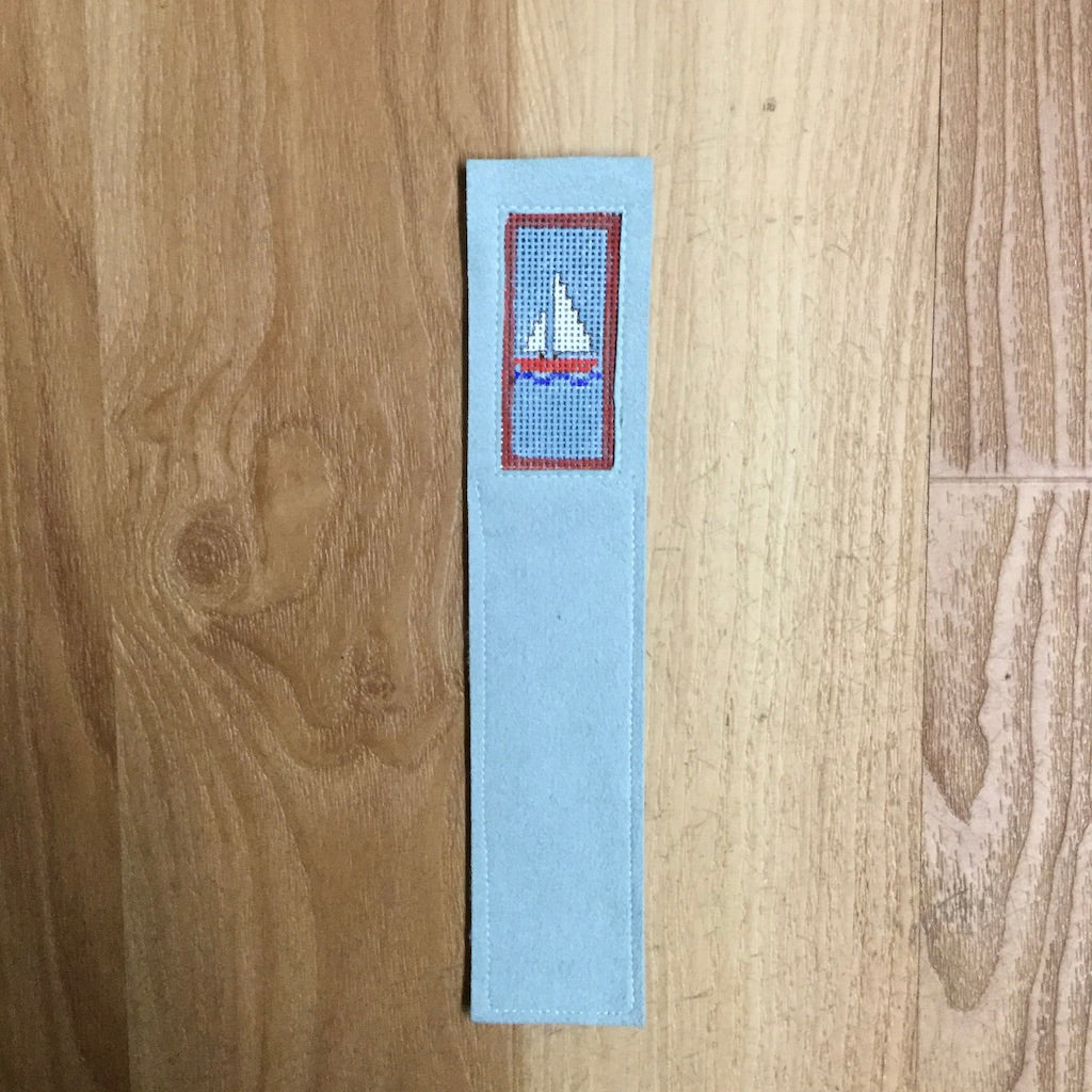 Sailboat Bookmark-Accessories-Anne Brinkley Designs-KC Needlepoint