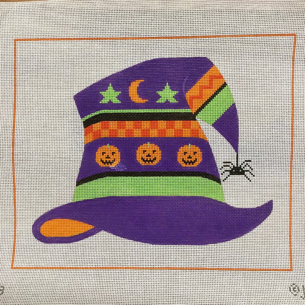Witch Hat Canvas-Needlepoint Canvas-J Malahy-KC Needlepoint