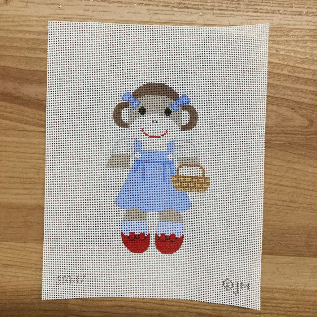Dorothy Sock Monkey Canvas - needlepoint