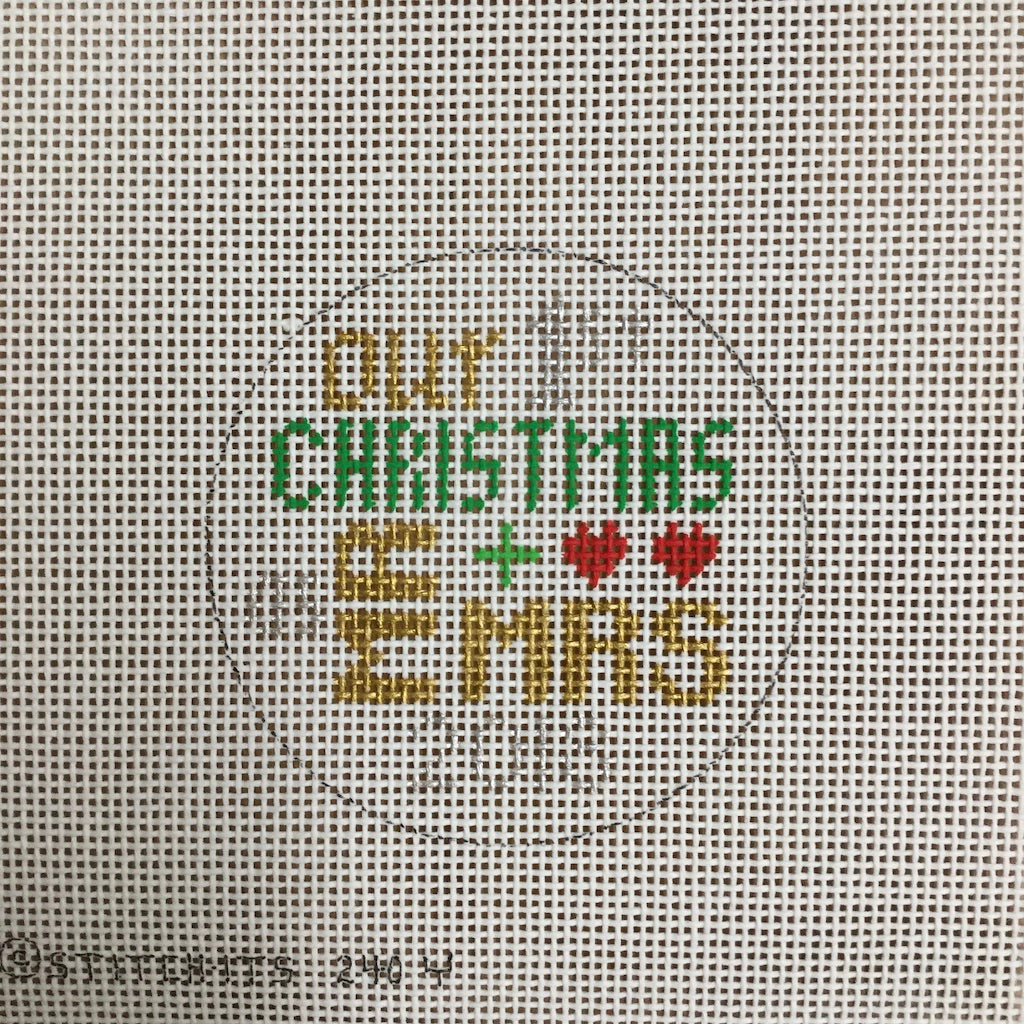 Our 1st Christmas Round Canvas-Needlepoint Canvas-Stitch-Its-KC Needlepoint
