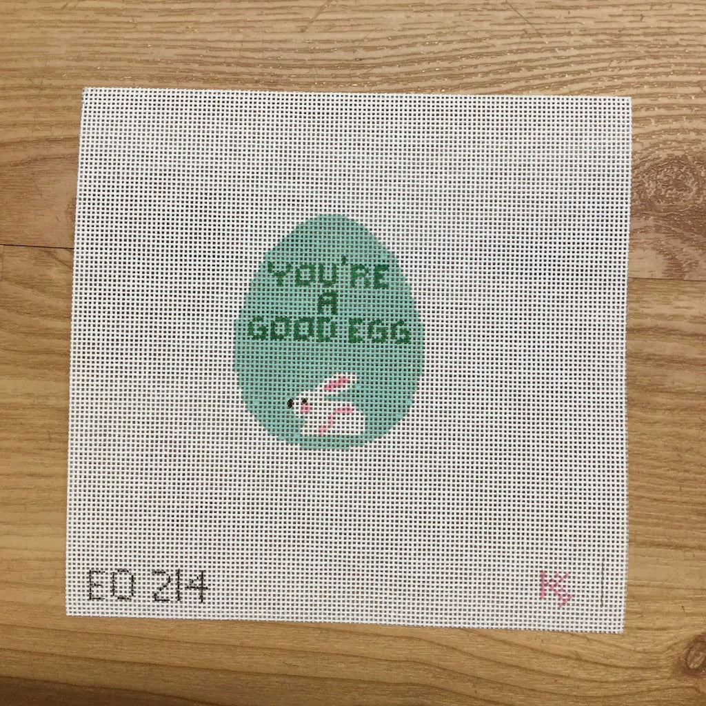 You're a Good Egg Canvas-Needlepoint Canvas-Kathy Schenkel-KC Needlepoint