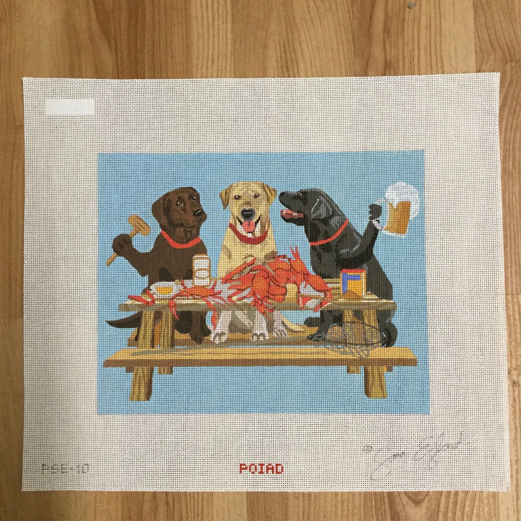 Paws for Claws Canvas - needlepoint