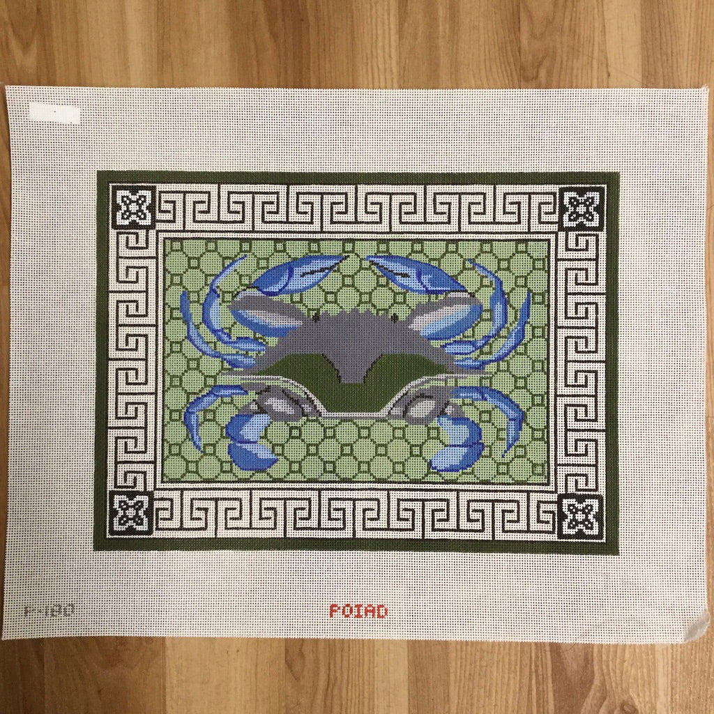 Blue Crab Canvas - KC Needlepoint