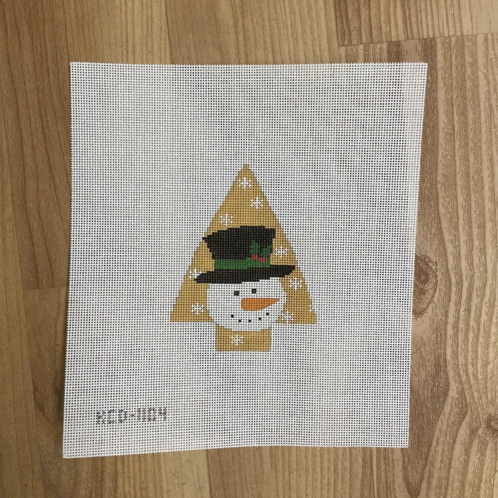 Tree with Snowman-Needlepoint Canvas-KCN Designers-KC Needlepoint