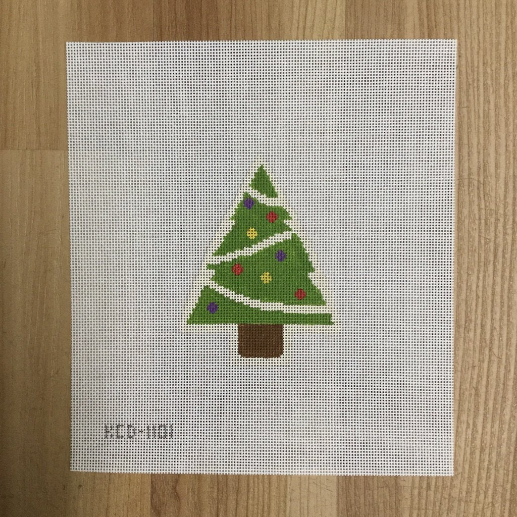 Tree with Ornaments-Needlepoint Canvas-KCN Designers-KC Needlepoint