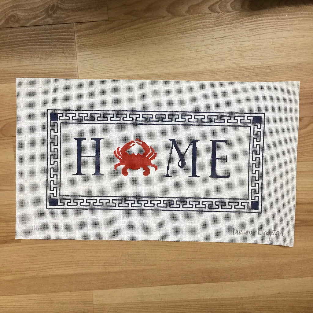 Home Crab Pillow Canvas - needlepoint