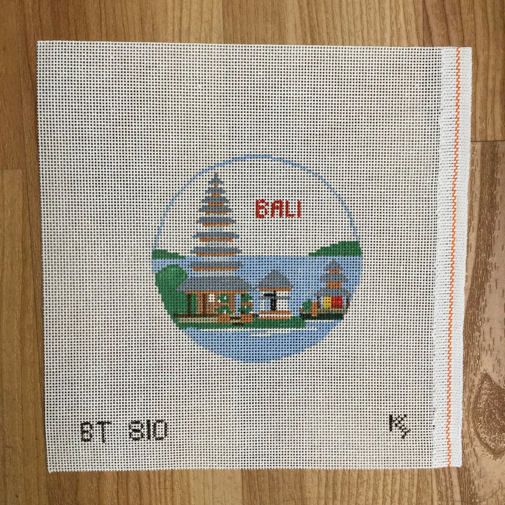 Bali Travel Round Canvas