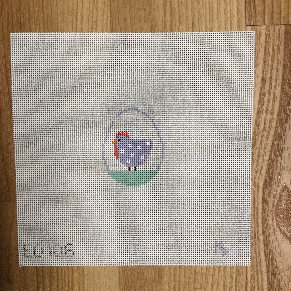 Hen Mini Egg Canvas-Kathy Schenkel-KC Needlepoint