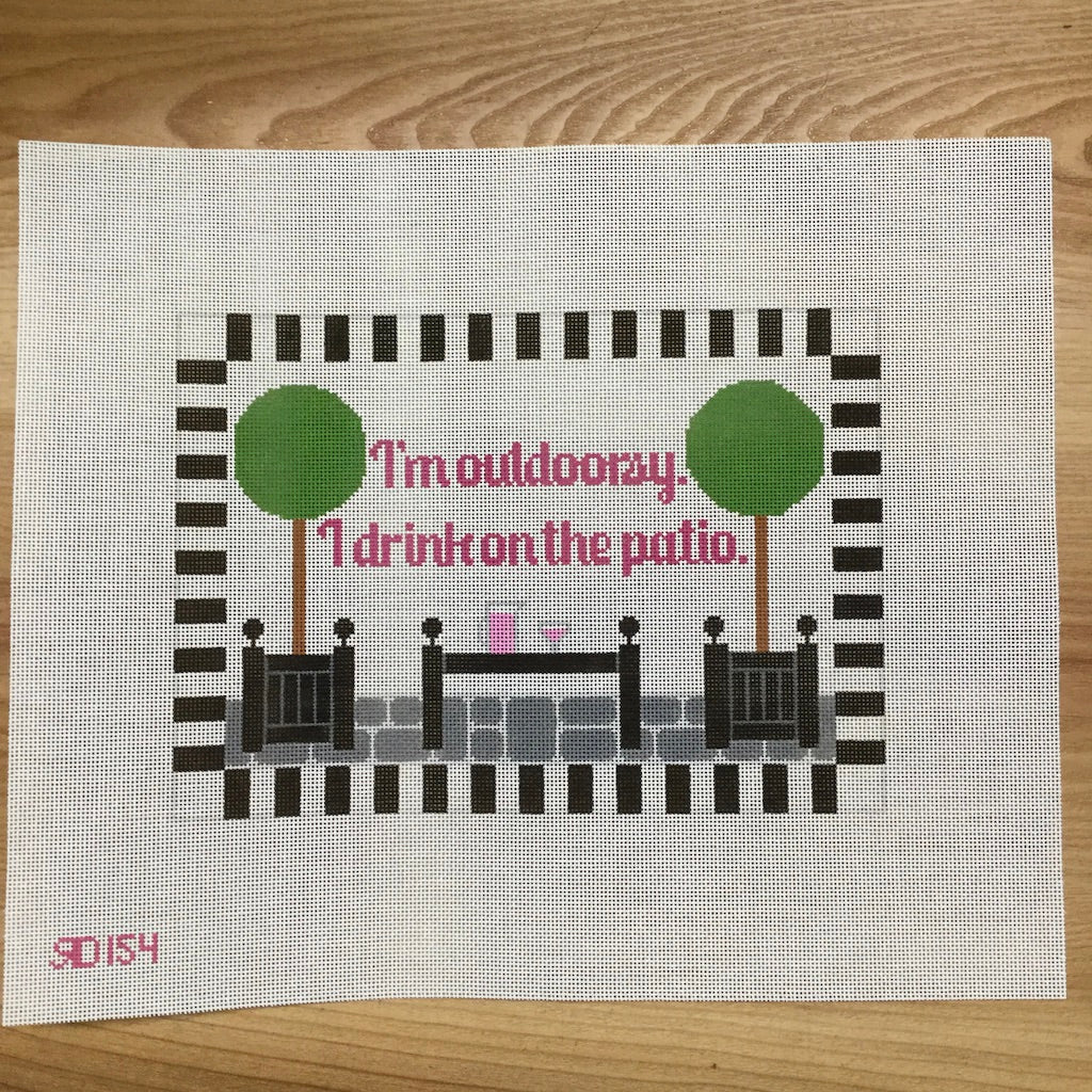 I'm Outdoorsy...Patio Canvas-Rachel Donley-KC Needlepoint