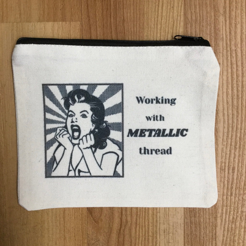 Working with Metallic Thread Bag-Accessories-Alice Peterson-KC Needlepoint