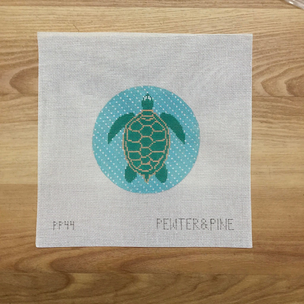 Tropical Turtle Canvas - KC Needlepoint