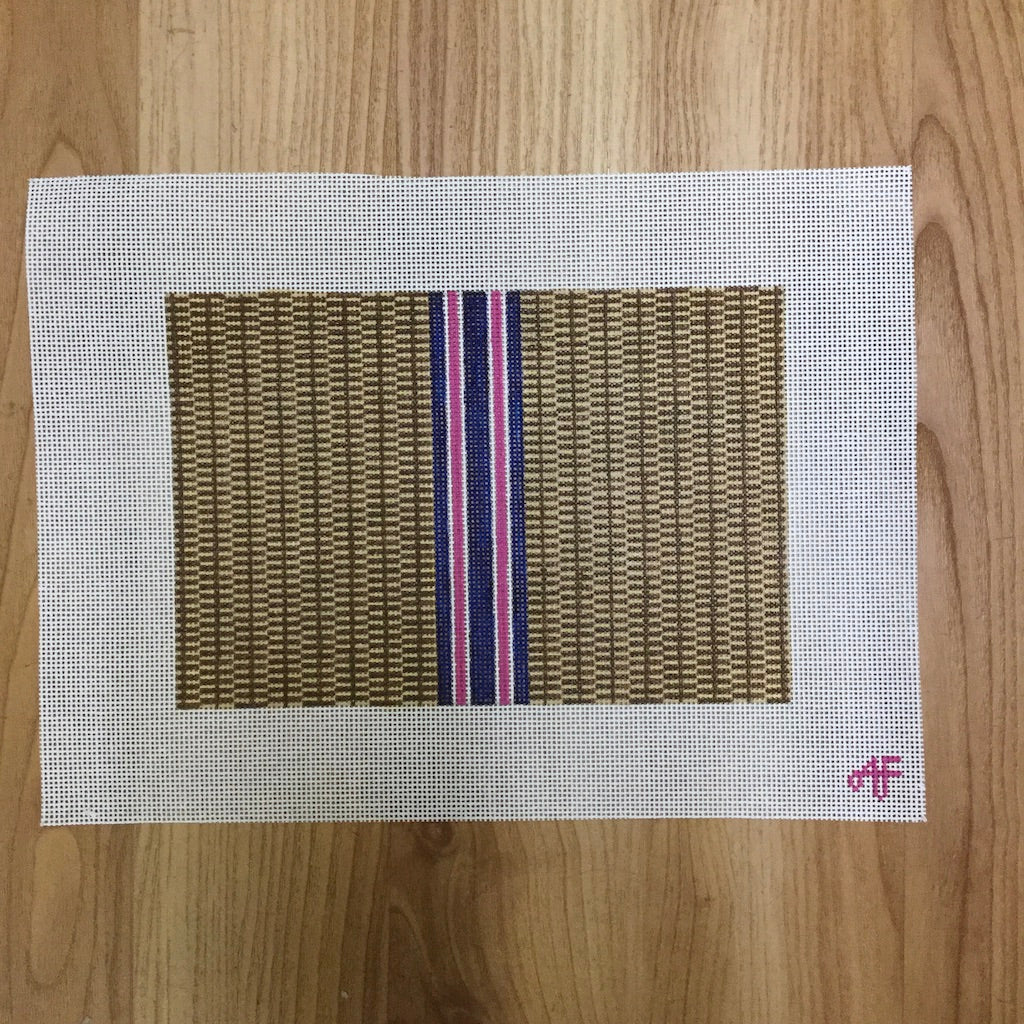 Nantucket Stripe Clutch Canvas