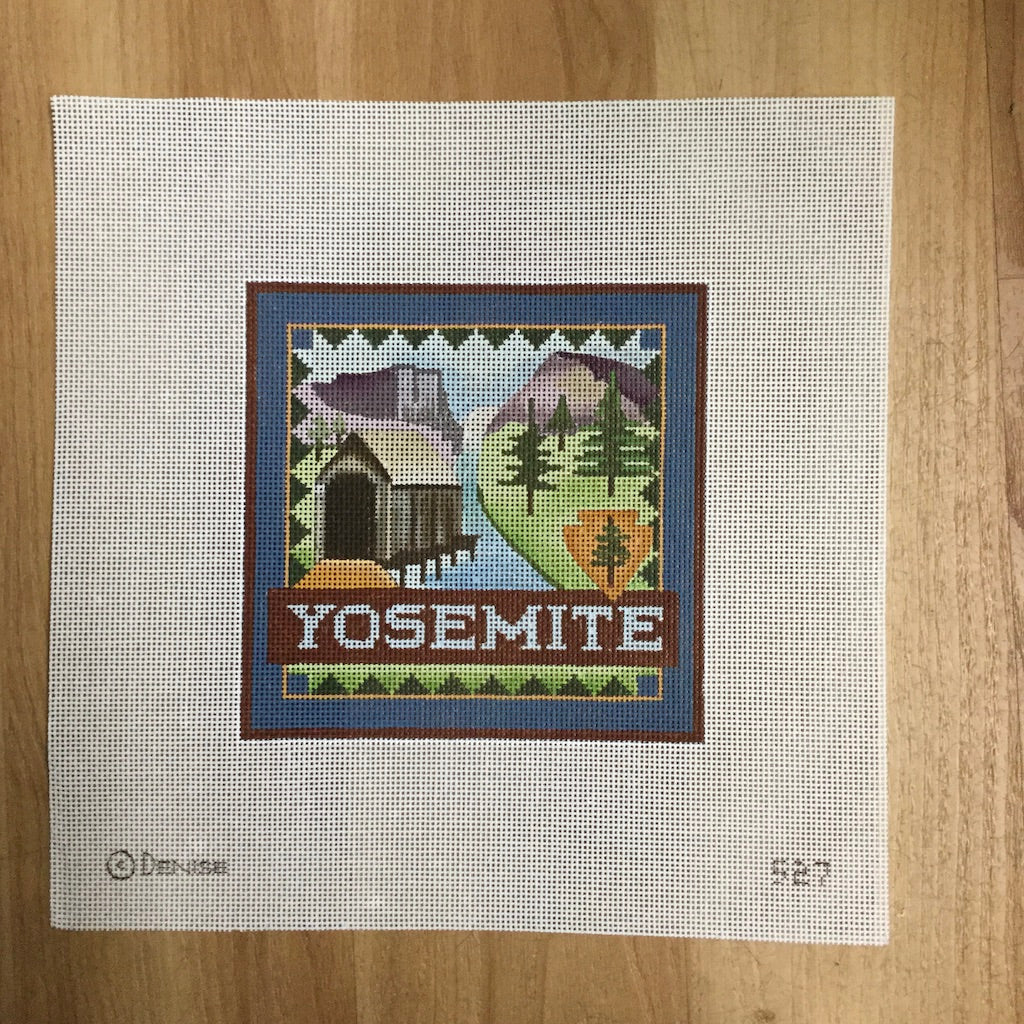 Yosemite Travel Needlepoint Canvas-Needlepoint Canvas-Ewe & Eye-KC Needlepoint