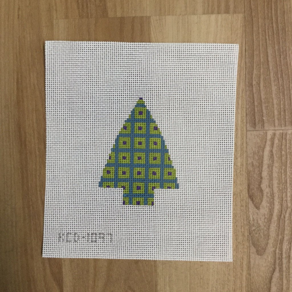 Tree with Squares - needlepoint