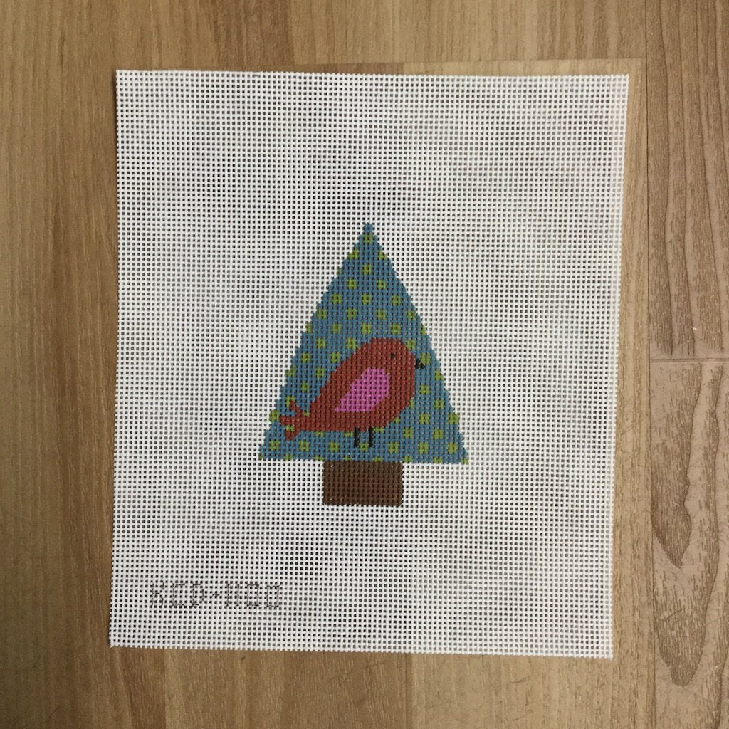 Tree with Red Bird-Needlepoint Canvas-KCN Designers-KC Needlepoint
