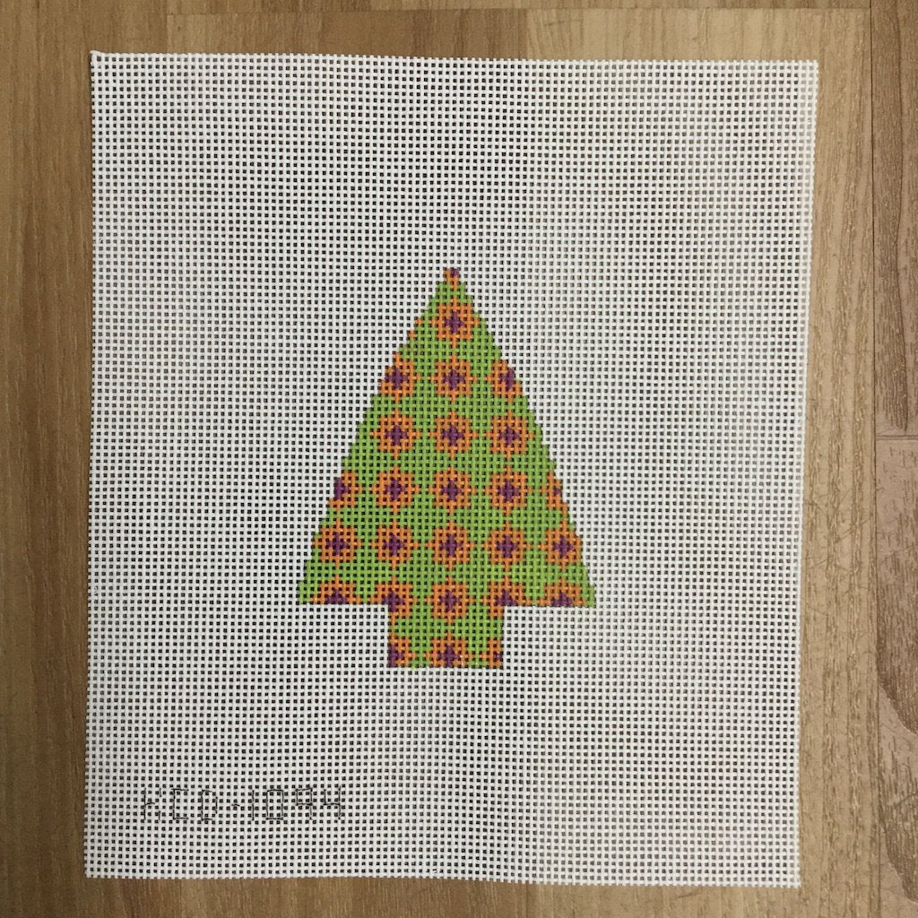 Tree with Geometric Design-KCN Designers-KC Needlepoint