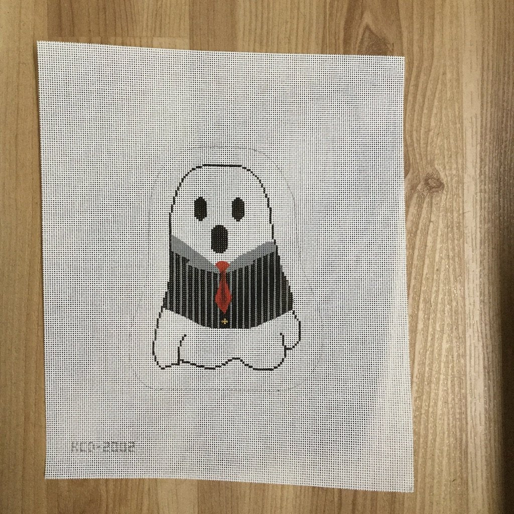 Benji the Zoot Suit Ghost - KC Needlepoint