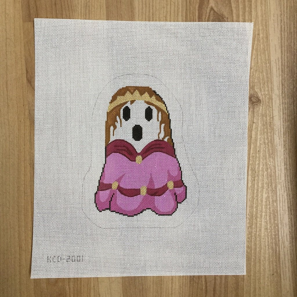 Penny the Princess Ghost - needlepoint
