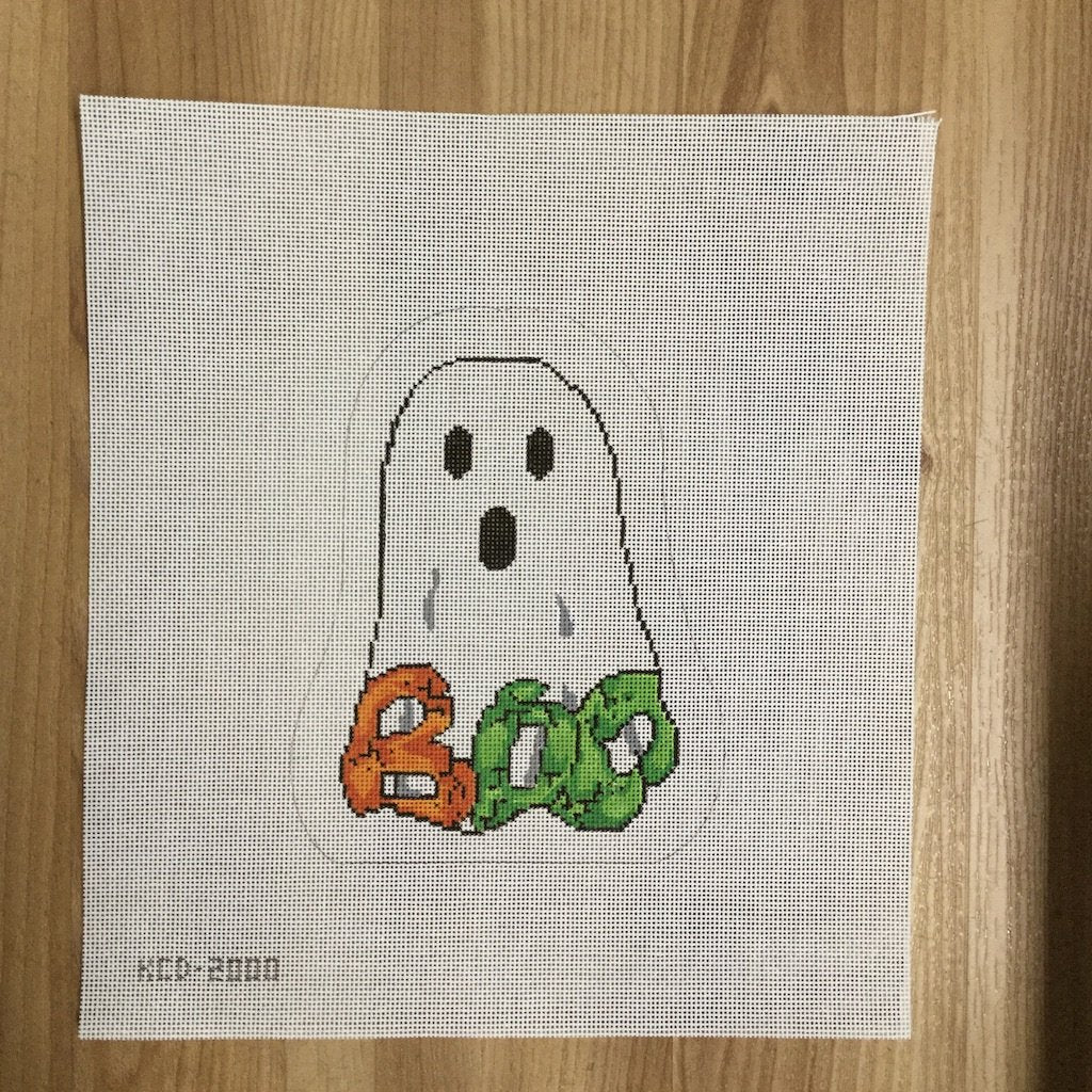 Bonnie the Bargello Ghost-Needlepoint Canvas-KCN Designers-KC Needlepoint