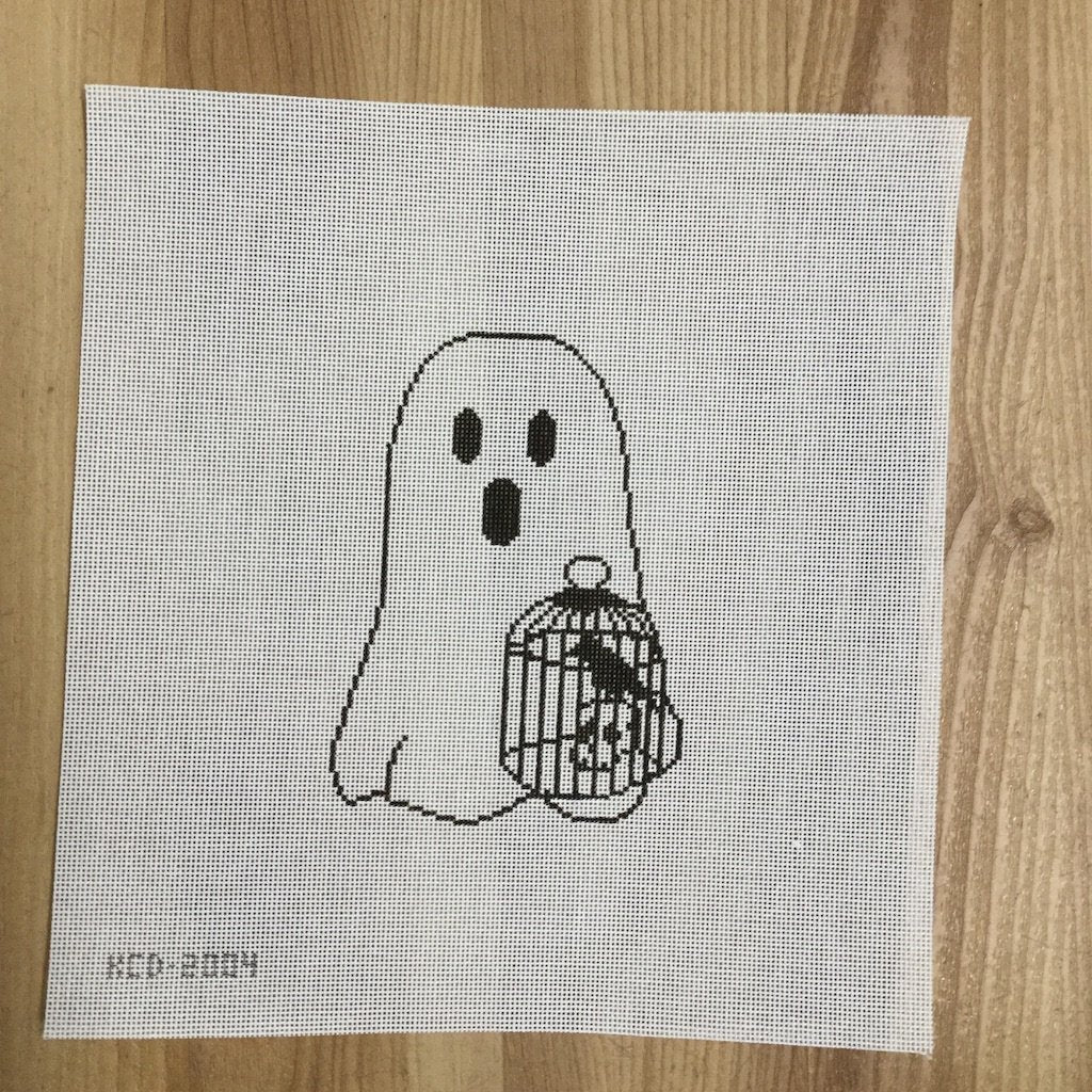 Jimmy with the Birdcage Ghost-Needlepoint Canvas-KCN Designers-KC Needlepoint