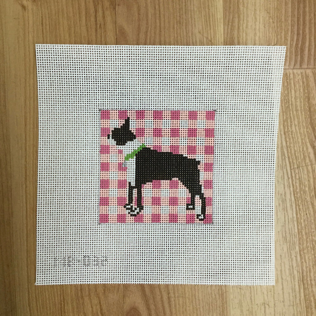Boston Terrier Standing-Needlepoint Canvas-KCN Designers-KC Needlepoint