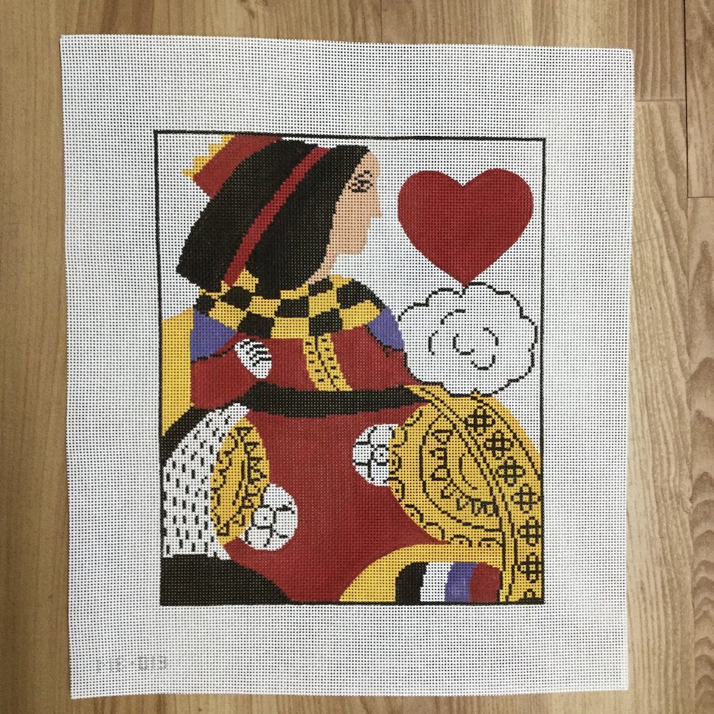 Queen of Hearts-Needlepoint Canvas-KCN Designers-KC Needlepoint