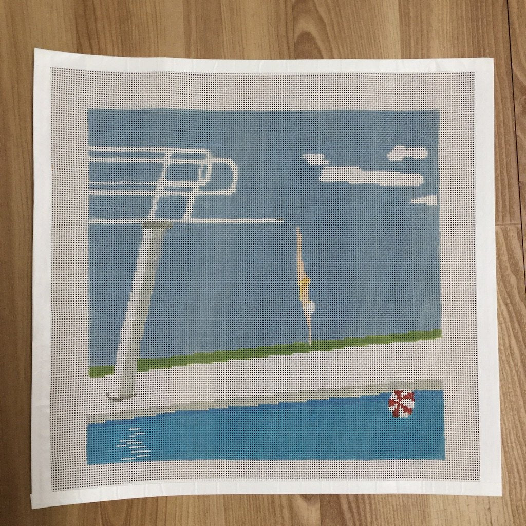 Dive Right In-Needlepoint Canvas-KCN Designers-KC Needlepoint