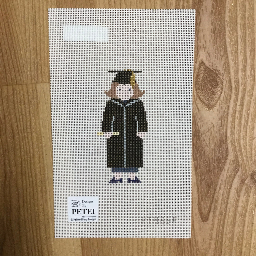 Female Graduate Canvas - needlepoint