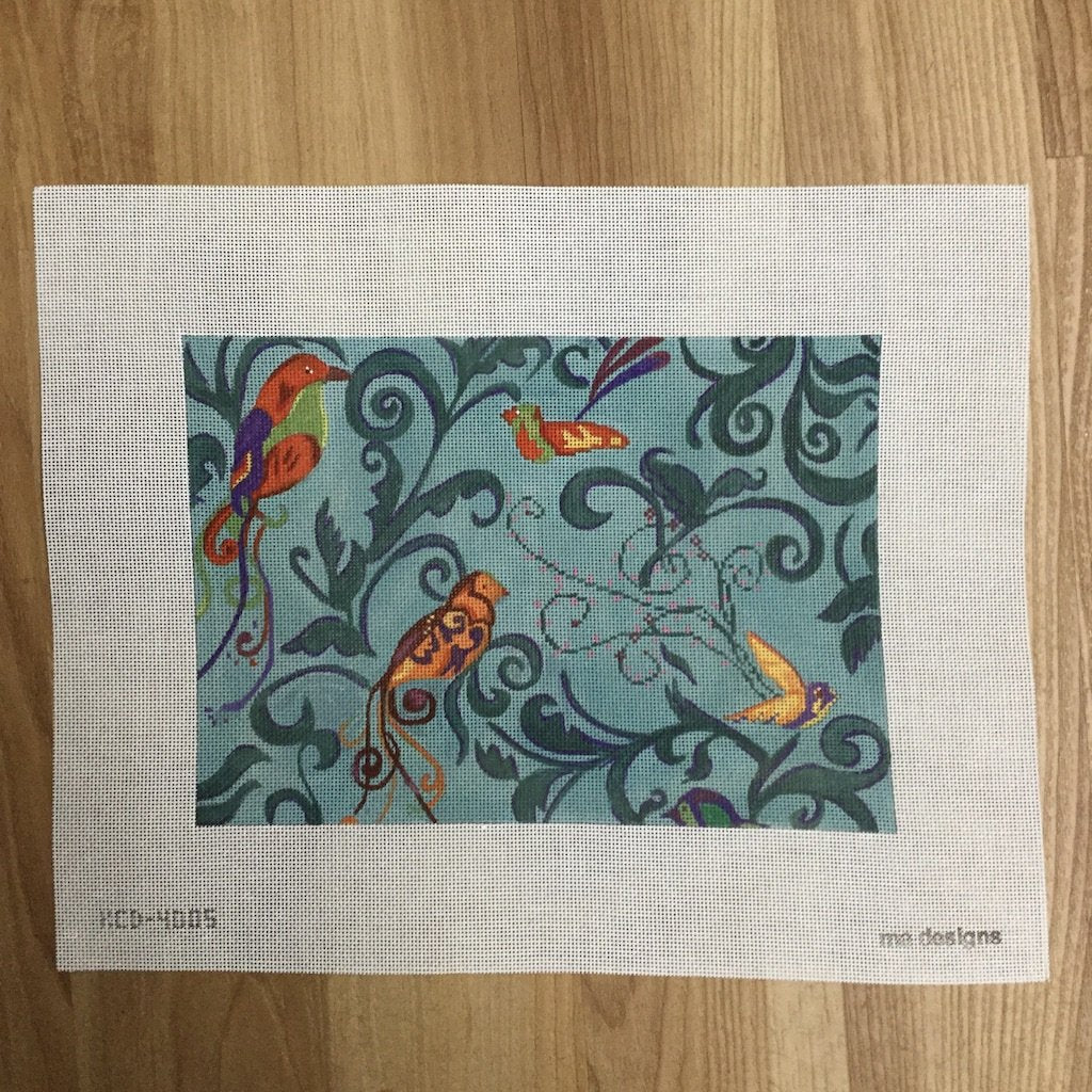 Birds on Retreat - needlepoint