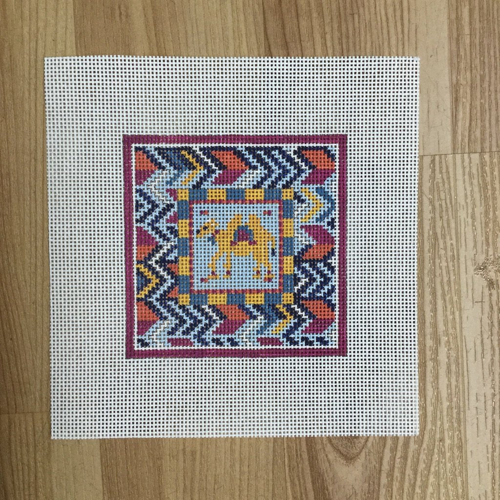 Camel Square-Needlepoint Canvas-KCN Designers-KC Needlepoint