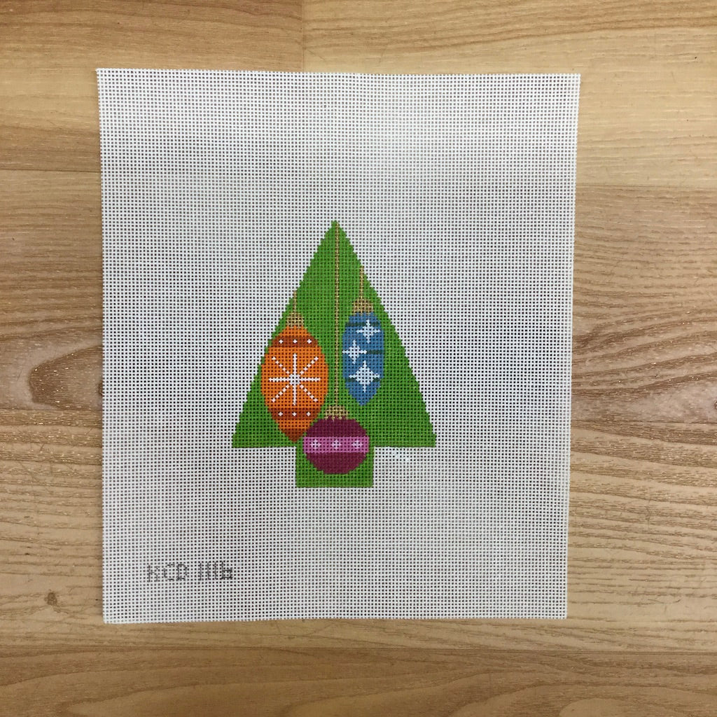 Tree with Baubles-Needlepoint Canvas-KCN Designers-KC Needlepoint