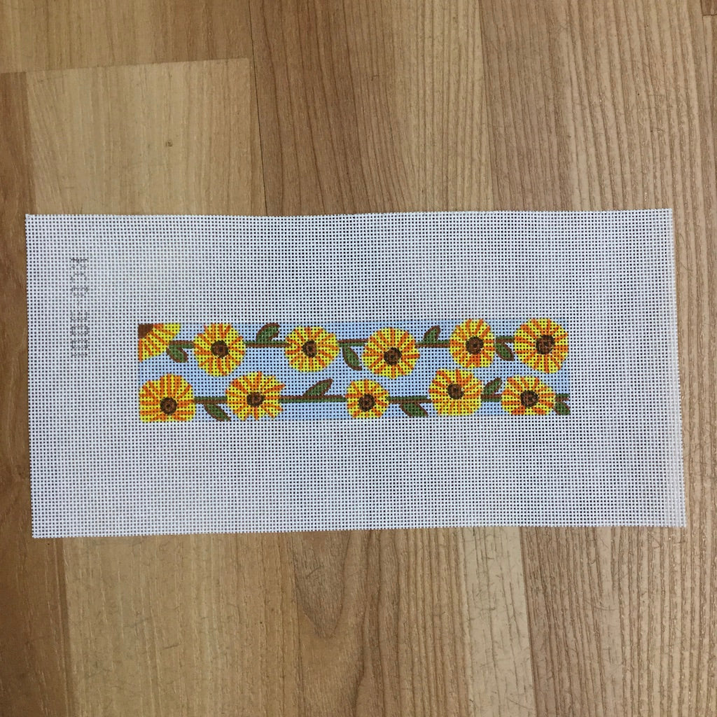 Sunflower Key Fob Canvas - needlepoint