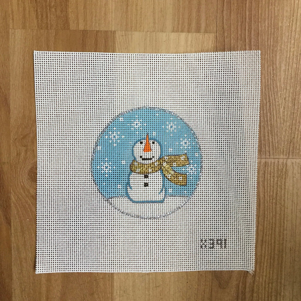 Things Looking Up Snowman Canvas-Needlepoint Canvas-Alice Peterson-KC Needlepoint