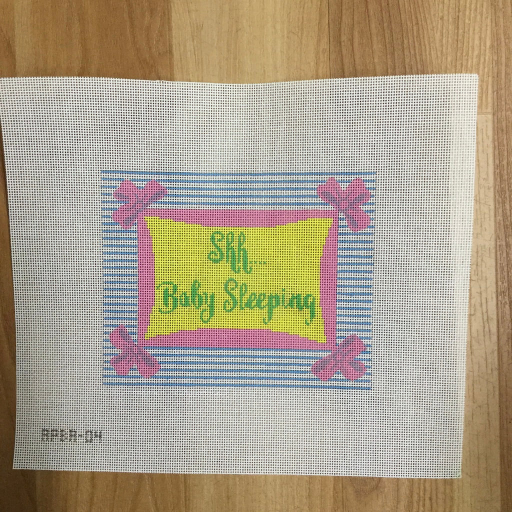 Shh... Baby Sleeping Canvas-Needlepoint Canvas-A Poore Girl Paints-KC Needlepoint