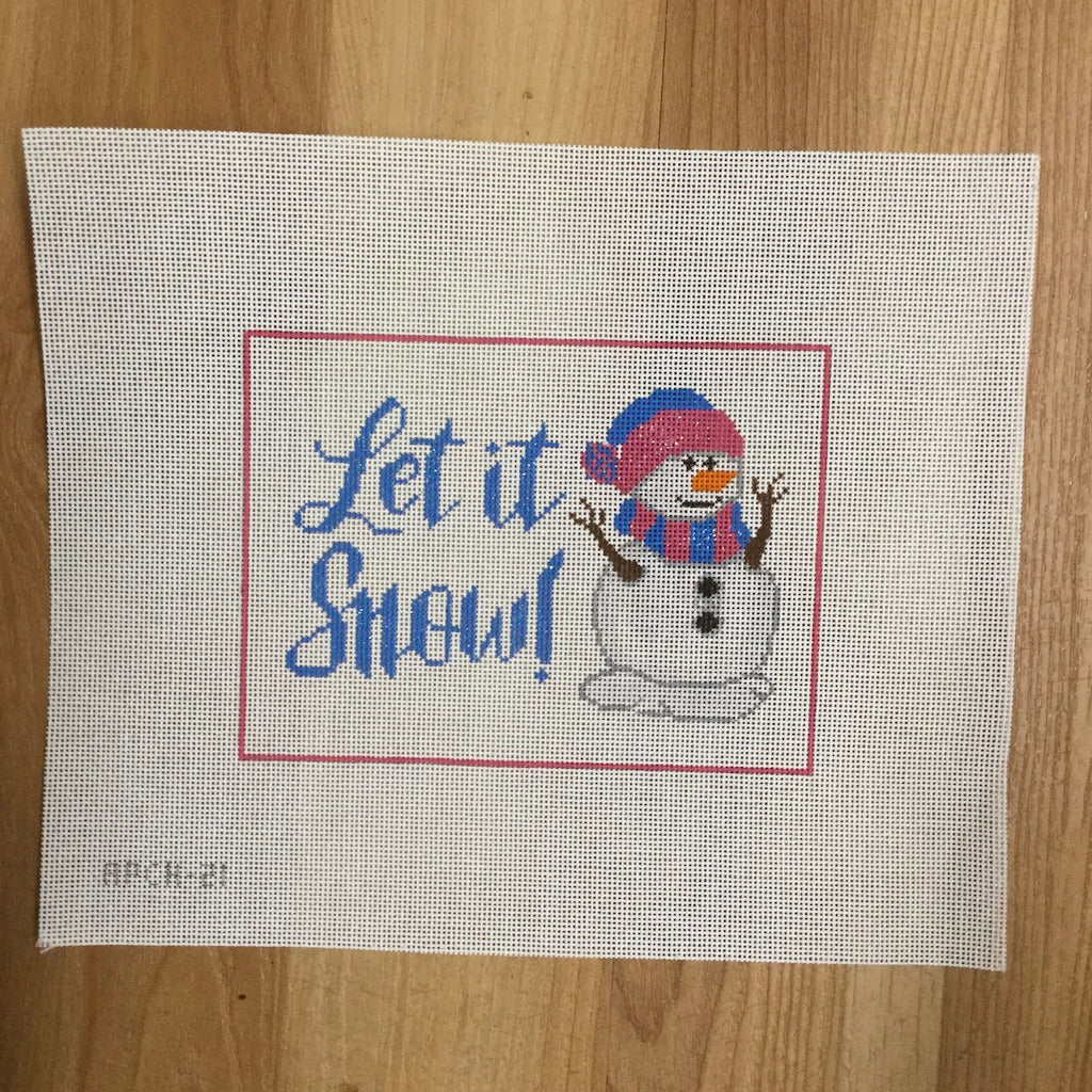 Let It Snow Canvas-Needlepoint Canvas-A Poore Girl Paints-KC Needlepoint