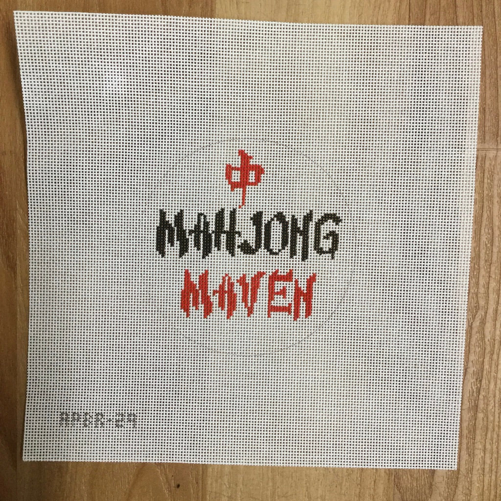 Mahjong Maven Canvas-Needlepoint Canvas-A Poore Girl Paints-KC Needlepoint