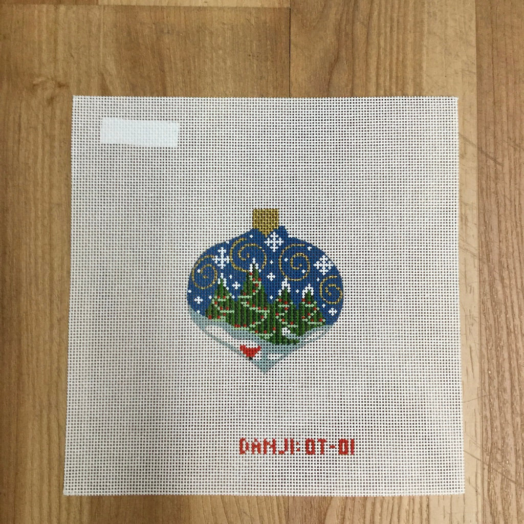 Christmas Trees Ornament Canvas - needlepoint